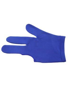 Rękawiczka bilardowa standard 3-palce niebieska